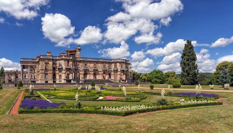 Historyczny Witley sąd i ogródy w lecie, Worcestershire, Anglia zdjęcie stock