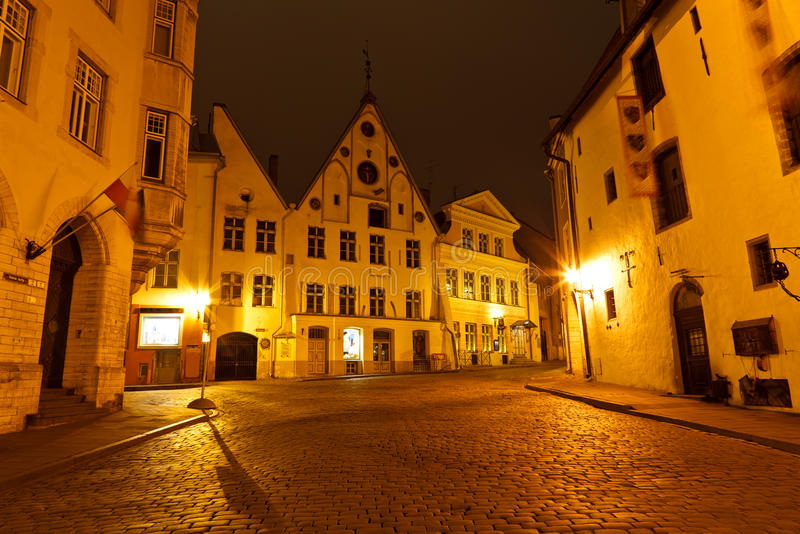 historycznych domów stary Tallinn miasteczko zdjęcie royalty free