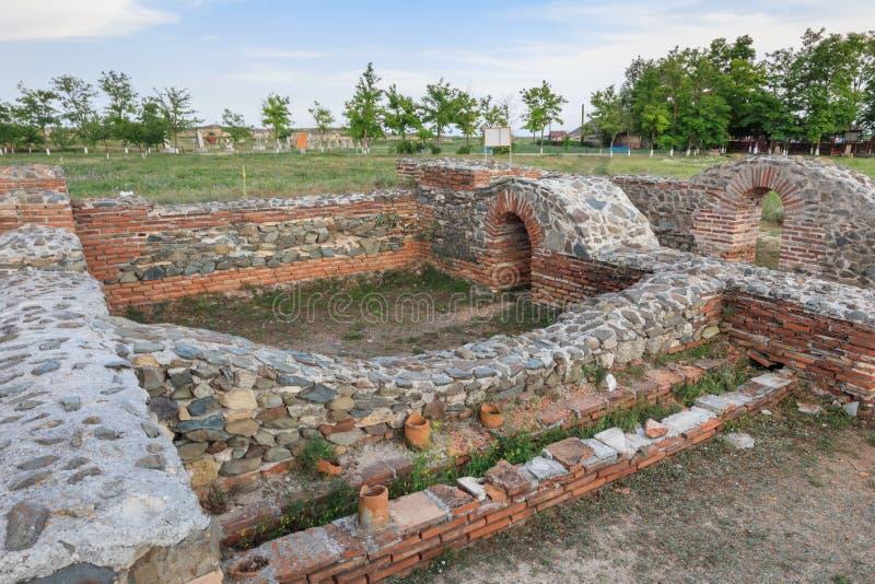 Histria fortress ruins, Romania stock photography