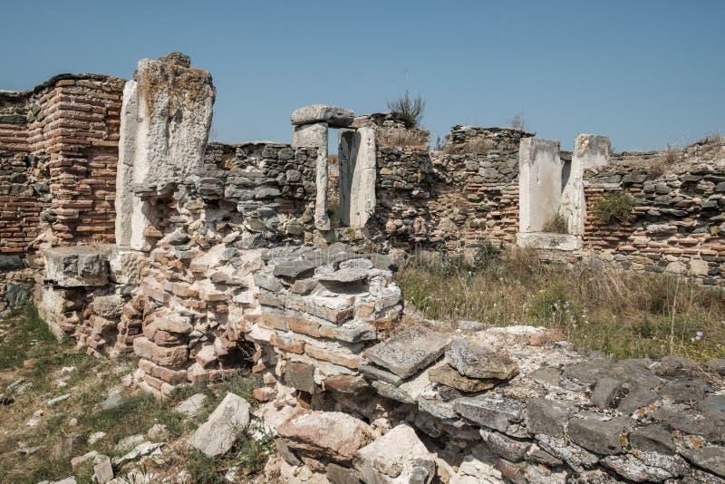 Histria, romania, Europa, escavações arqueológicos foto de stock