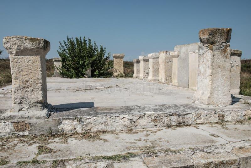 Histria, romania, Europa, escavações arqueológicos fotografia de stock