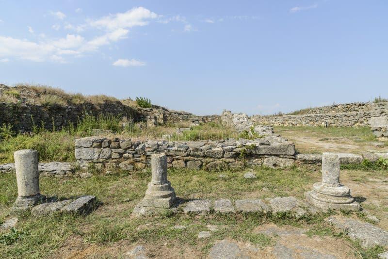 Histria, romania, Europa, escavações arqueológicos imagem de stock royalty free