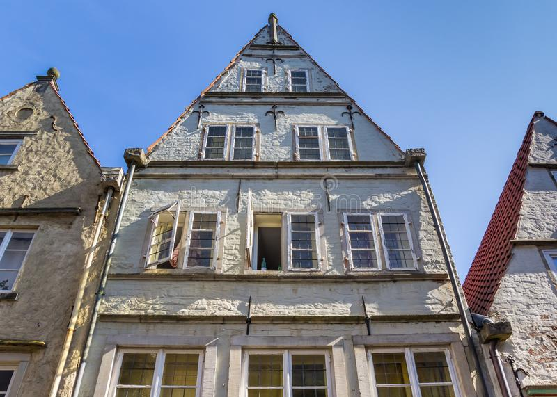 Histroical house in the Schnoor district of Bremen. Germany stock photos