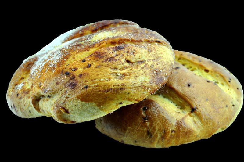 Hiszpańscy boże narodzenia chlebowi z rodzynkami zdjęcia stock