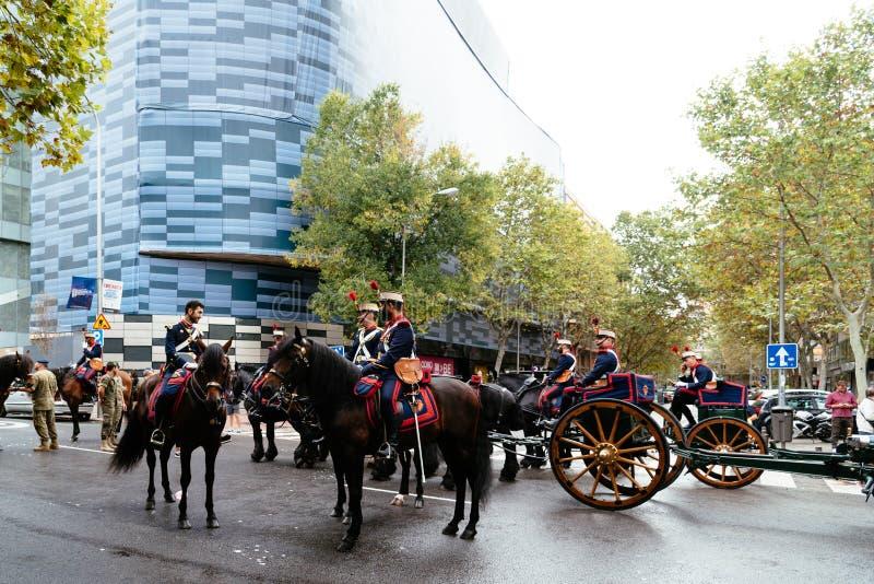 Hiszpańska święta państwowego wojska parada w Madryt obraz royalty free
