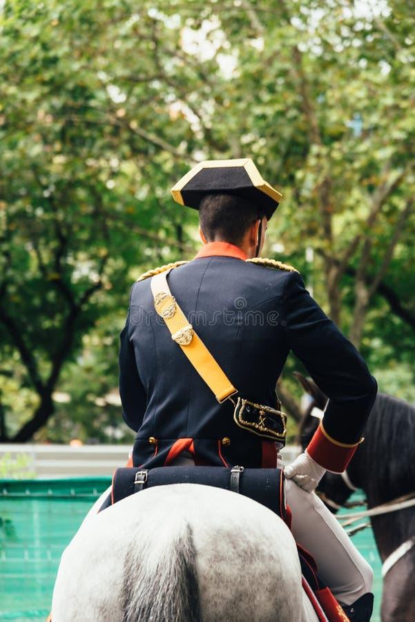 Hiszpańska święta państwowego wojska parada w Madryt fotografia royalty free