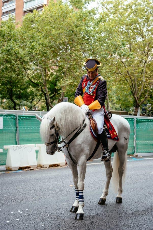 Hiszpańska święta państwowego wojska parada w Madryt zdjęcie royalty free