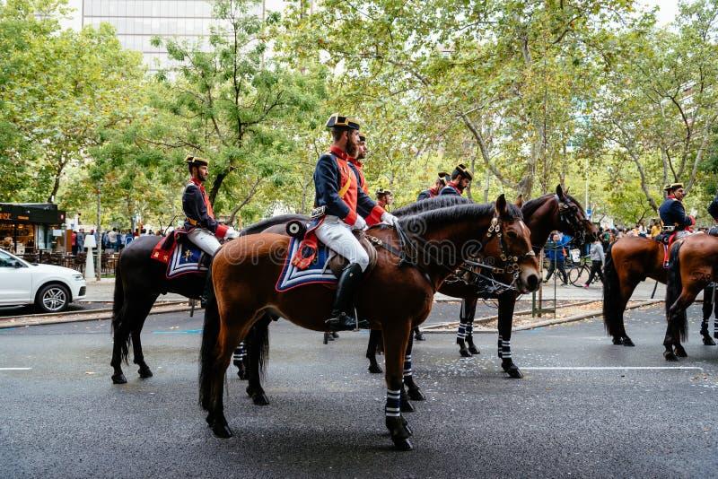 Hiszpańska święta państwowego wojska parada w Madryt zdjęcie stock