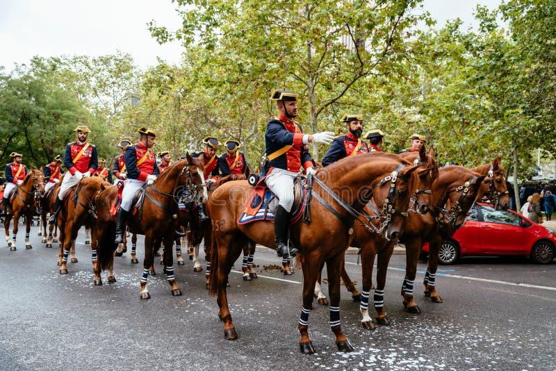 Hiszpańska święta państwowego wojska parada w Madryt zdjęcia stock