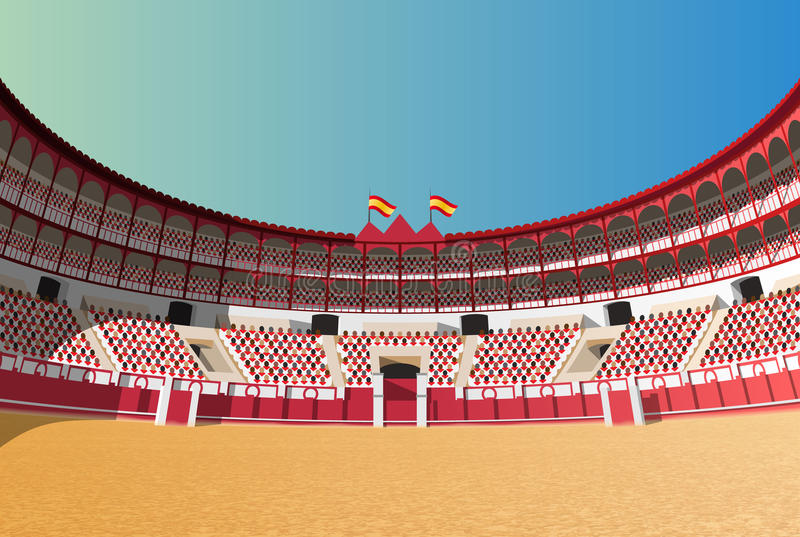 Hiszpańska bullfight arena ilustracji