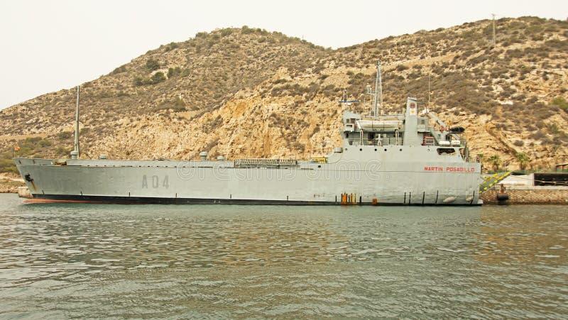 Hiszpańska marynarka wojenna, Cartagena obraz stock