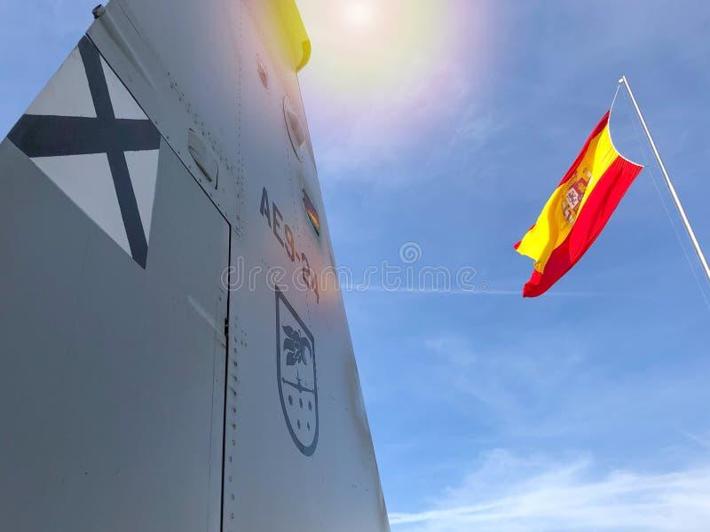 Hiszpańska siły powietrzne i flaga obraz royalty free