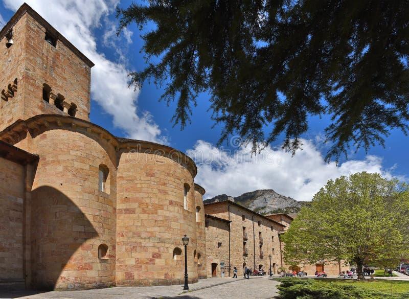Hiszpański antyczny monaster obrazy stock