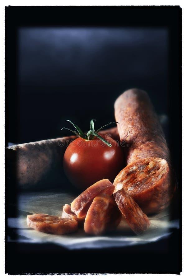 Hiszpański Chorizo fotografia royalty free