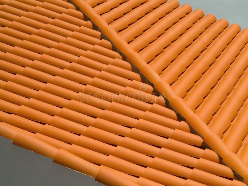 Hiszpański dachówkowy dach obraz stock