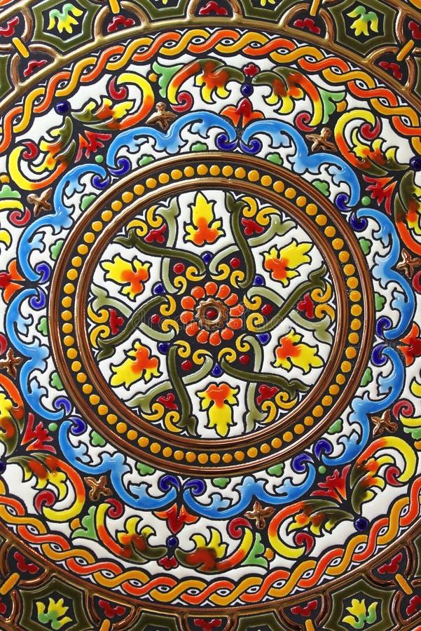 Hiszpańszczyzny wręczają malującego talerza zdjęcie royalty free