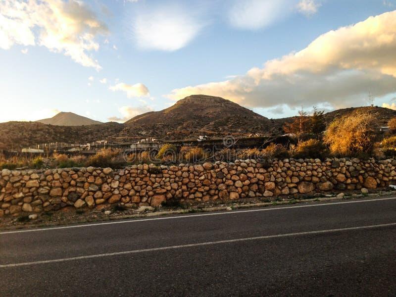 Hiszpański droga krajobraz zdjęcia stock