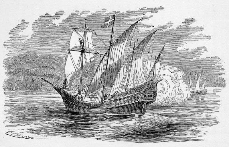 hiszpański galeon royalty ilustracja