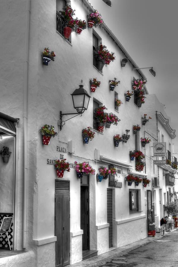 Hiszpański grodzki dom zdjęcie stock