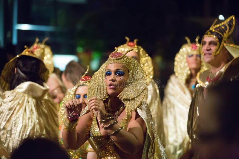 Hiszpański karnawał w nocy zdjęcie royalty free