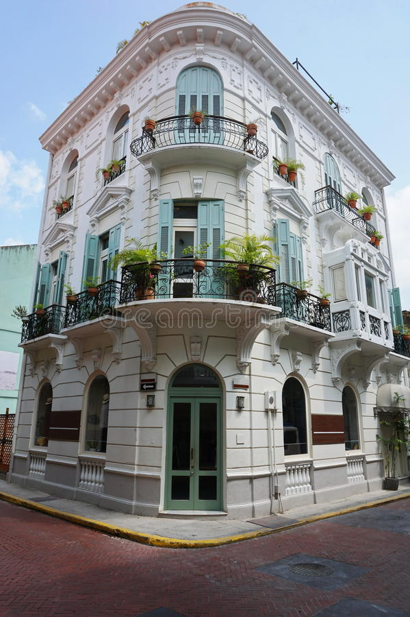 Hiszpański kolonisty domu Casco Antiguo Panama miasto obraz royalty free