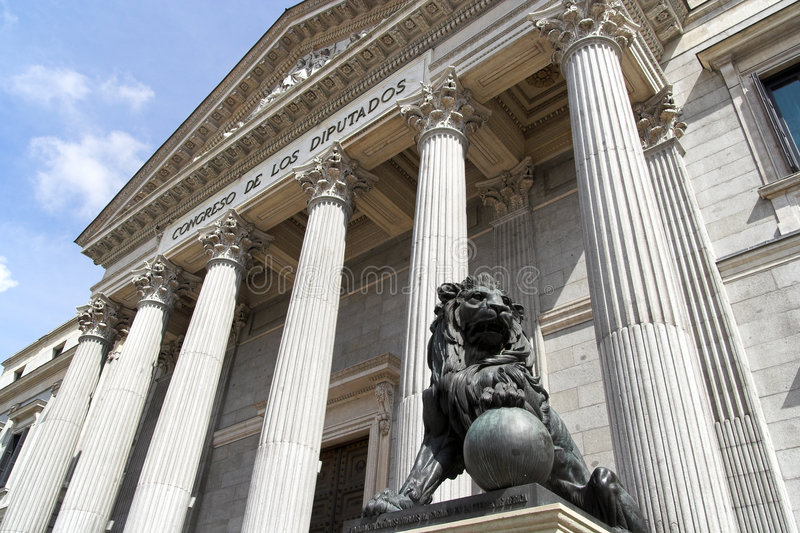 hiszpański kongres obraz royalty free
