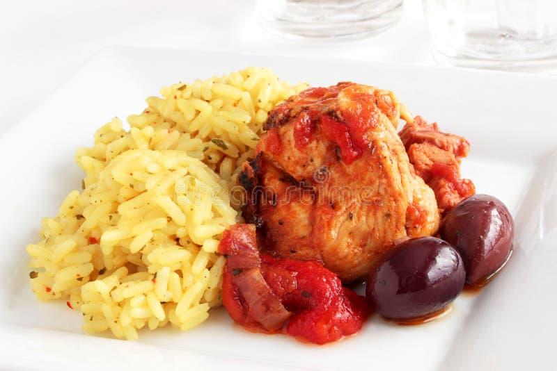 Hiszpański kurczak zdjęcie royalty free