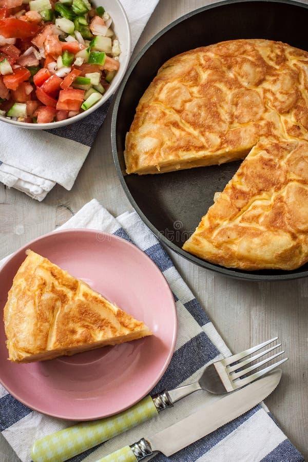Hiszpański omelette fotografia stock