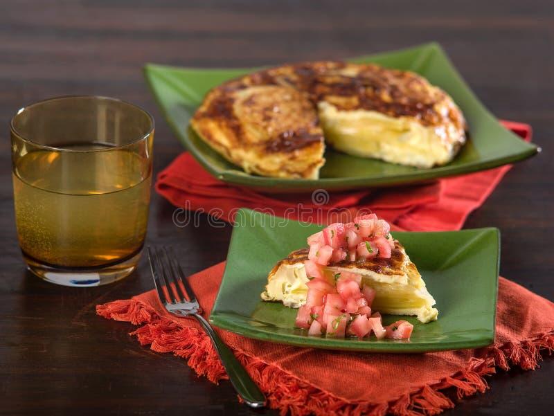Hiszpański omlet zdjęcie royalty free