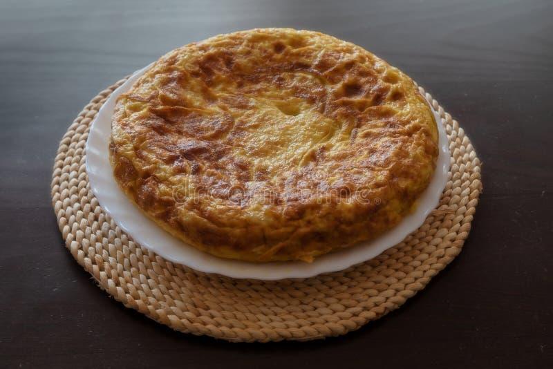 Hiszpański omlet, Tortilla De Patat obrazy royalty free
