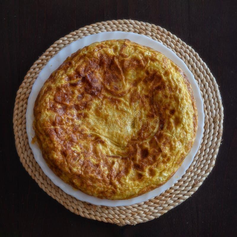 Hiszpański omlet, Tortilla De Patat zdjęcia royalty free