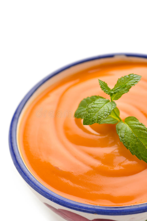 Hiszpański porra antequerana, zimna pomidorowa polewka zdjęcie royalty free