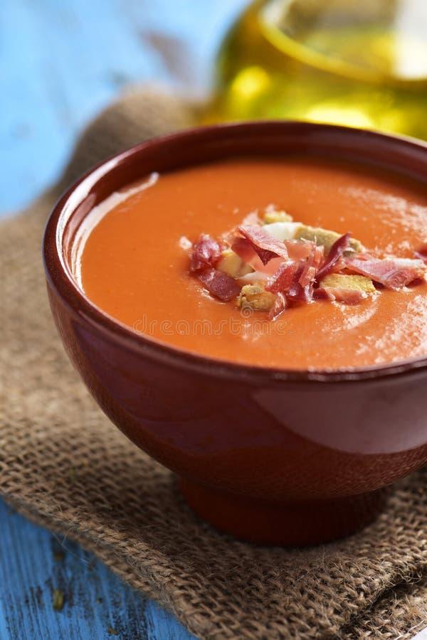 hiszpański slamorejo lub porra, zimna pomidorowa polewka obrazy stock