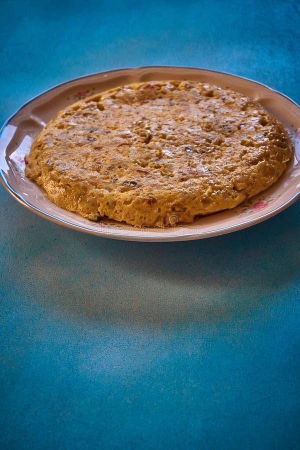 Hiszpański tortillla bardzo wyśmienicie dla je obraz royalty free