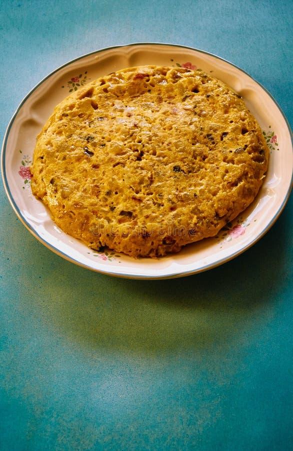 Hiszpański tortillla bardzo wyśmienicie zdjęcia royalty free
