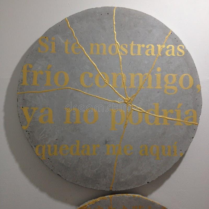 Hiszpański wiersz zdjęcie stock