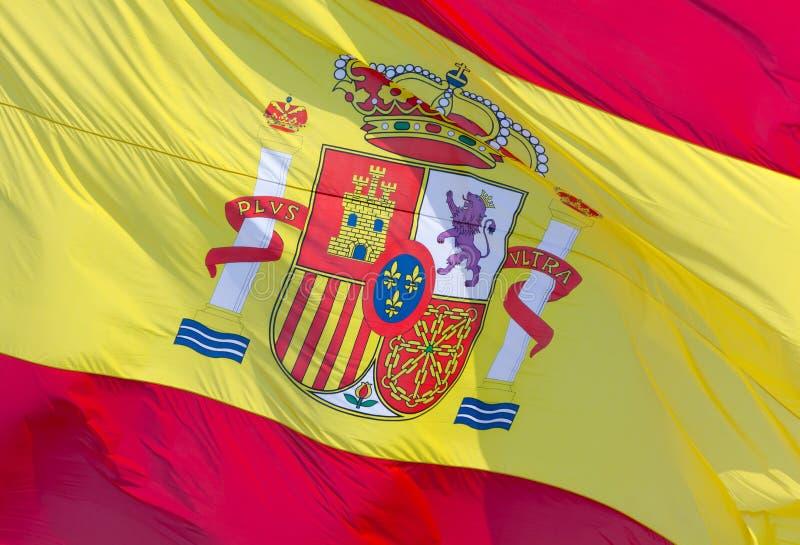 Hiszpańszczyzny flaga fotografia royalty free