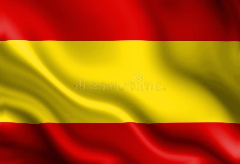 Hiszpańszczyzny flaga ilustracja wektor
