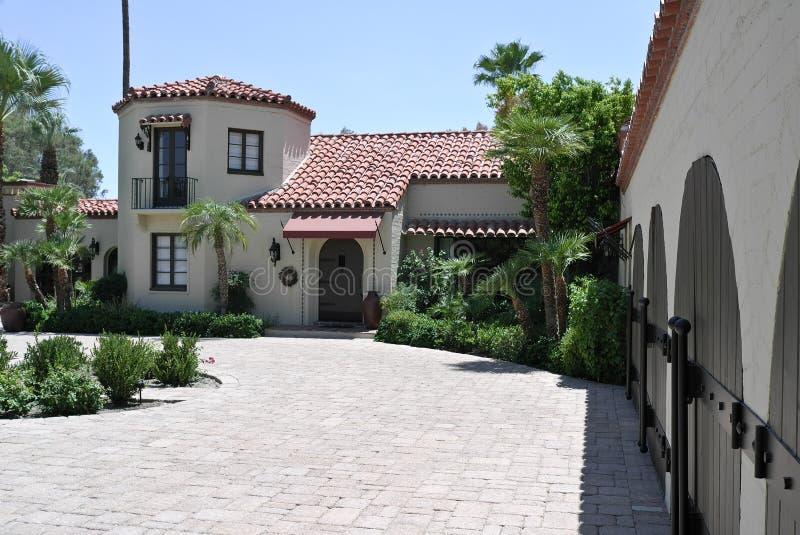 Hiszpańszczyzny projektują Kalifornia dom fotografia stock