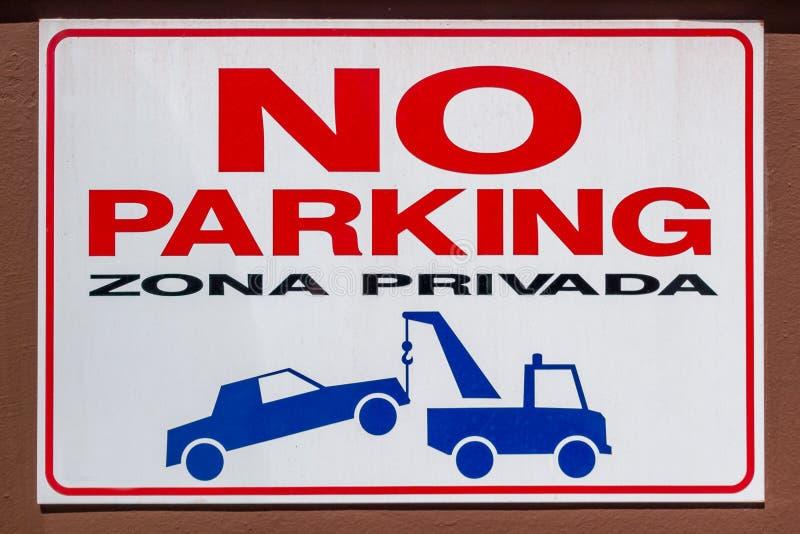 Hiszpa?szczyzny ?adny parking znak obrazy stock