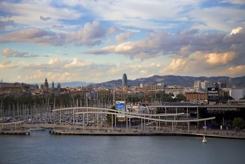 Hiszpania, Barselona- Listopad 20, 2013 Barcelona Widok miasto obrazy stock