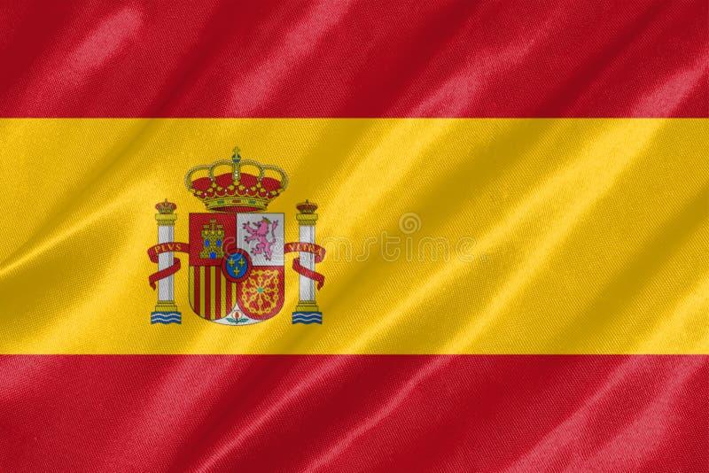 Hiszpania flaga obraz royalty free