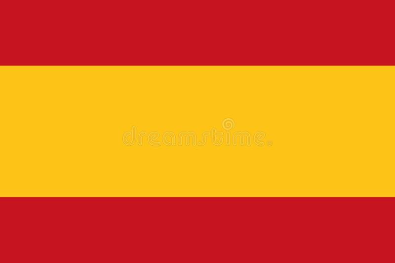 Hiszpania flaga wektor royalty ilustracja