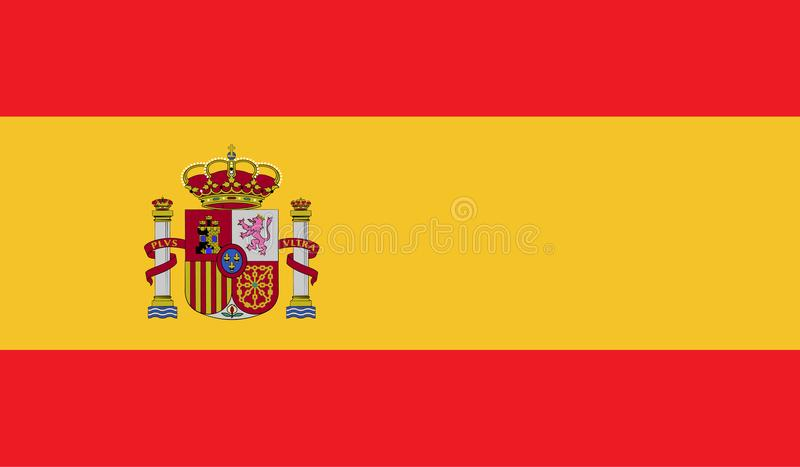Hiszpania flaga wizerunek ilustracji
