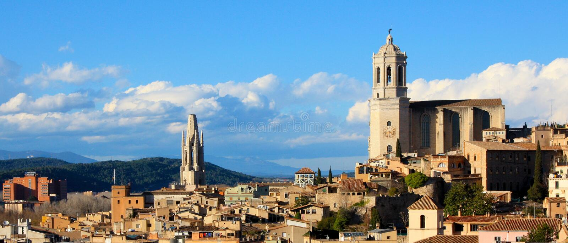 Hiszpania, Girona - zdjęcia stock