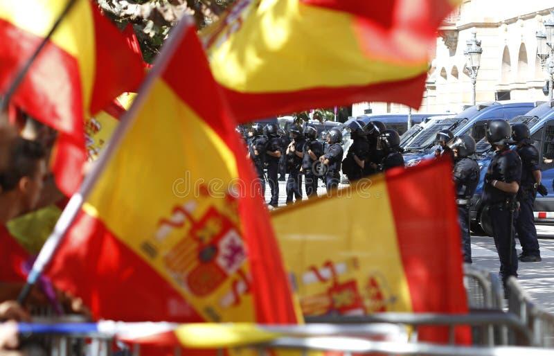 Hiszpania jedności manifestacja w Barcelona zdjęcie stock