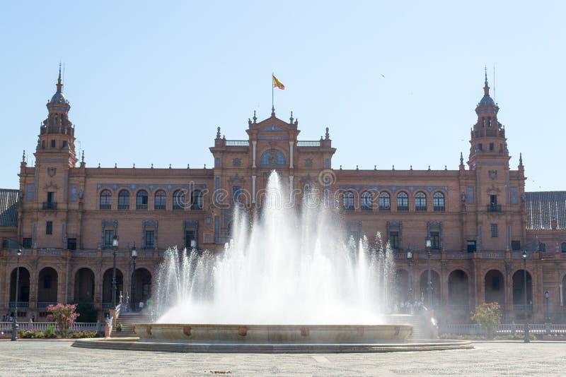 Hiszpania kwadrata fontanna zdjęcia royalty free