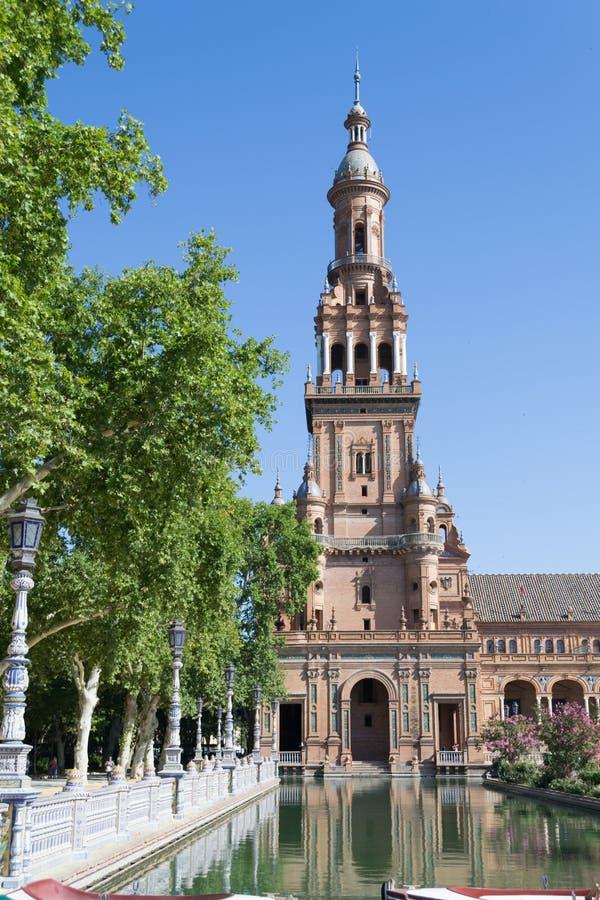Hiszpania kwadrata wierza fotografia royalty free
