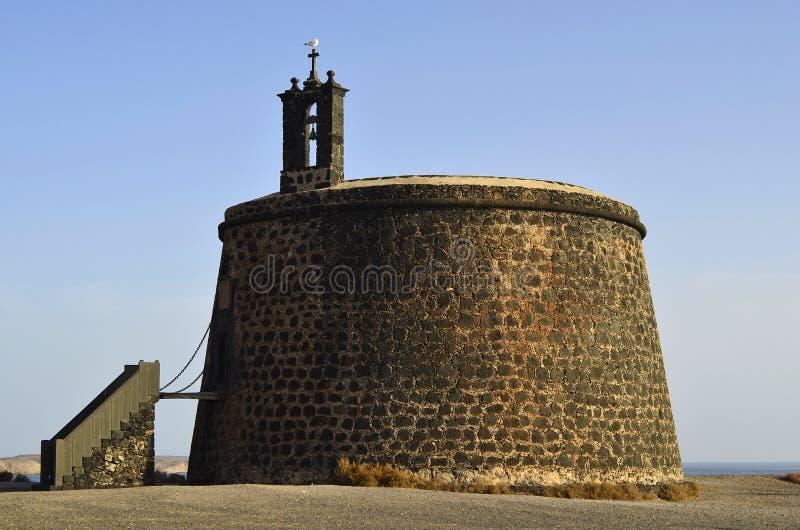 Hiszpania, Lanzarote, Castillo obraz stock