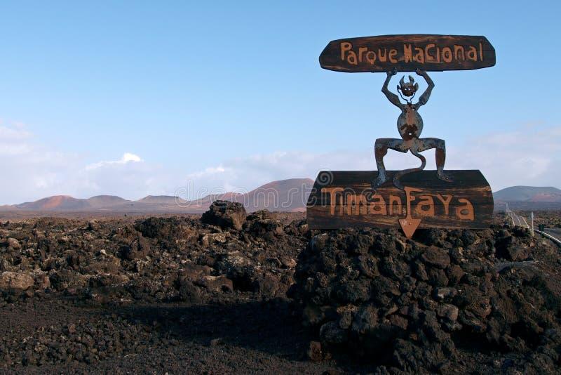 Hiszpania, Lanzarote, Timanfaya obrazy royalty free